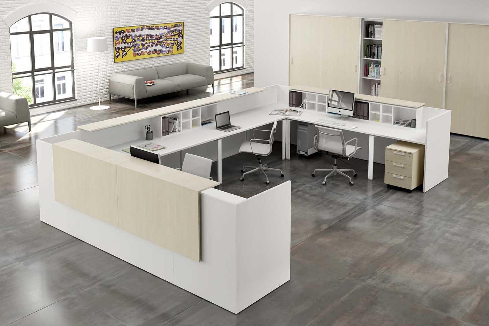 Reception Ufficio Bianco : Reception uffici services projects